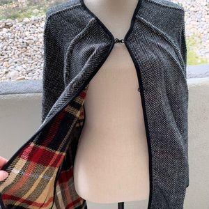 Reversible poncho coat